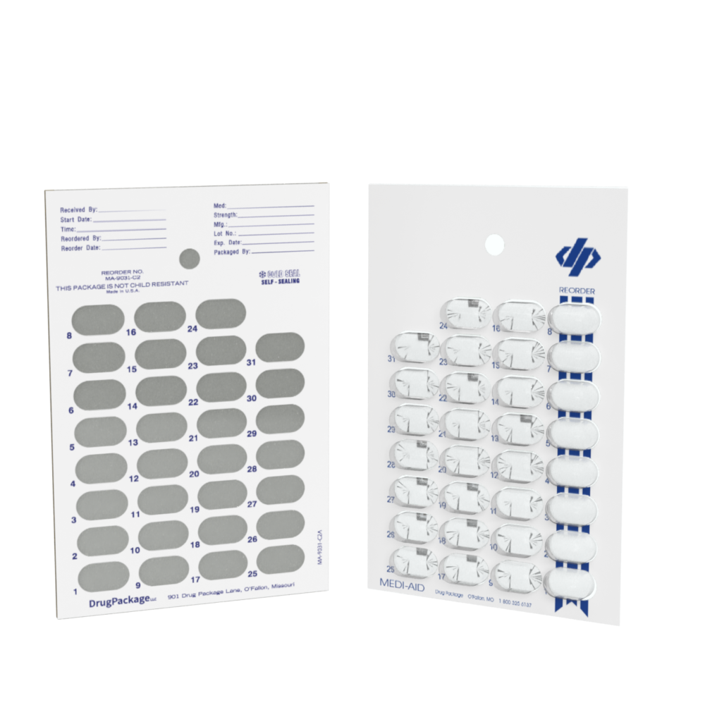SynMed® Automated Dispensing 31-Day Medication Blister Card